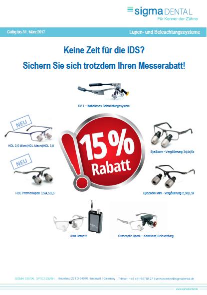 Orascoptic Angebot zur IDS Köln 2017 von Siga Dental